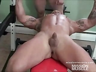 Muscle guys working out nude 1:14 2011-08-21