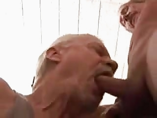 Two mature gay grandpa sucking each other man (gay) gay porn (gay) bareback (gay)