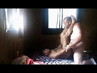 White Bear barefucks tight Mexican ass gay porn (gay) bareback (gay) bear (gay)
