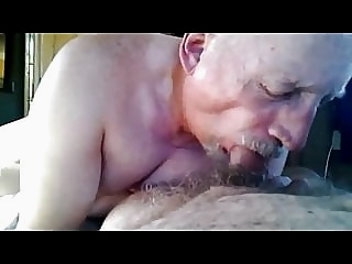 Grandpa really enjoy sucking fat old cock amateur (gay) blowjob (gay) daddy (gay)