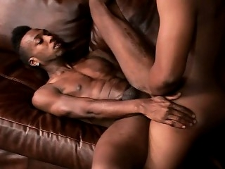 Tattooed black stud gets his fiery ass drilled hard by his gay lover 10:00 2016-08-10