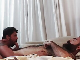 Ale Tedesco and Rob Hairy Fucking Hot bareback bear daddy