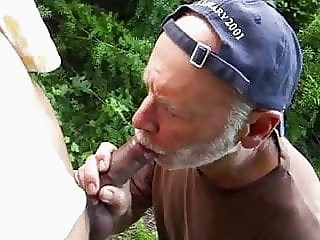 Cruising...Shot in his mouth! big cock (gay) blowjob (gay) daddy (gay)