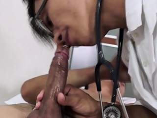 Asian MD checks up patients cock with blowjob 6:15 2014-11-20