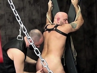 Bald bear duo bareback assfucking doggystyle bareback (gay) bears (gay) cumshot (gay)